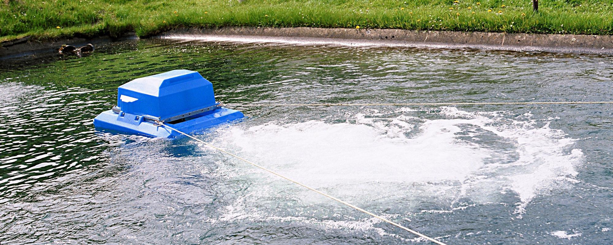 Wirtschaftliche Sauerstoffanreicherung und Durchmischung von Abwasser